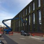 Integral manage external blind refurbishment at Leicester University Building